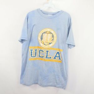 Vintage Champion Acid Wash UCLA Spell Out Shirt L